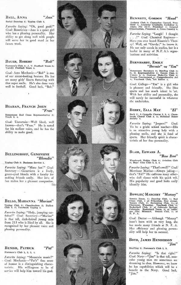 1945 NFA Yearbook